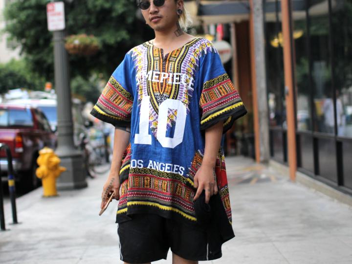 dashiki, dimepiece, Downtown, dtla, glasses, skingraft, street style, tattoos, top, UNIF