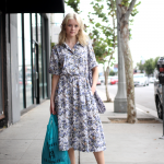 dress, Melrose, New Balance, Sneakers, street style, Vintage