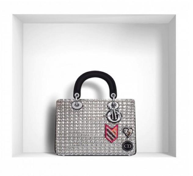 """Dior Mini""""Diorissimo"""" Bag in Metallic Tweed"""