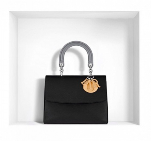 "Dior Small ""Be Dior"" Flap Bag in Three-Tone Calfskin"