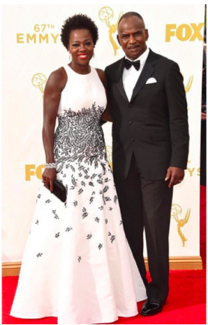 Viola Davis with husband Julius Tennon at the 2015 Emmy Awards held at the Microsoft Theater in Los Angeles, California, on September 20, 2015