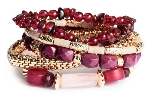 H&M 5-Pack Elastic Bracelets