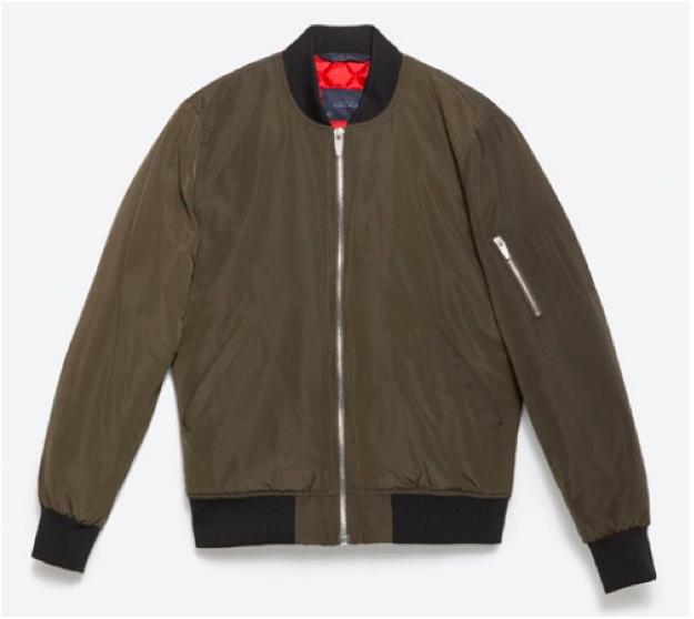 Bomber Jacket in Khaki, $79.90