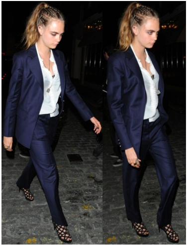 Cara Delevingne at the Louis Vuitton Series 3 Gala Opening held at 180 Strant during London Fashion Week in London, England, on September 20, 2015