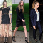Cara Delevingne in Burberry and Louis Vuitton in London, England