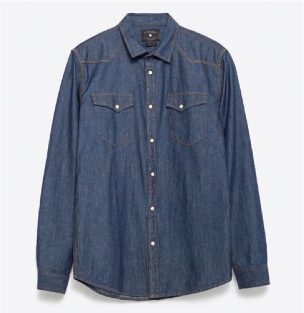 Denim Shirt in Indigo, $29.90