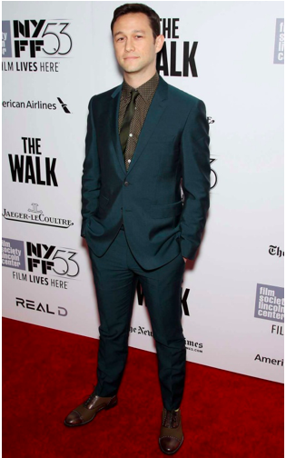 Joseph Gordon-Levitt at the premiere of The Walk during the 53rd New York Film Festival held at the Alice Tully Hall at Lincoln Center in New York City, on September 26, 2015.