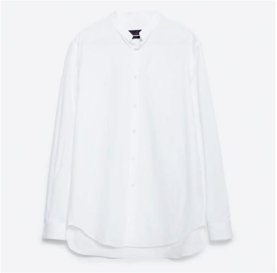 Poplin Shirt in White, $39.90