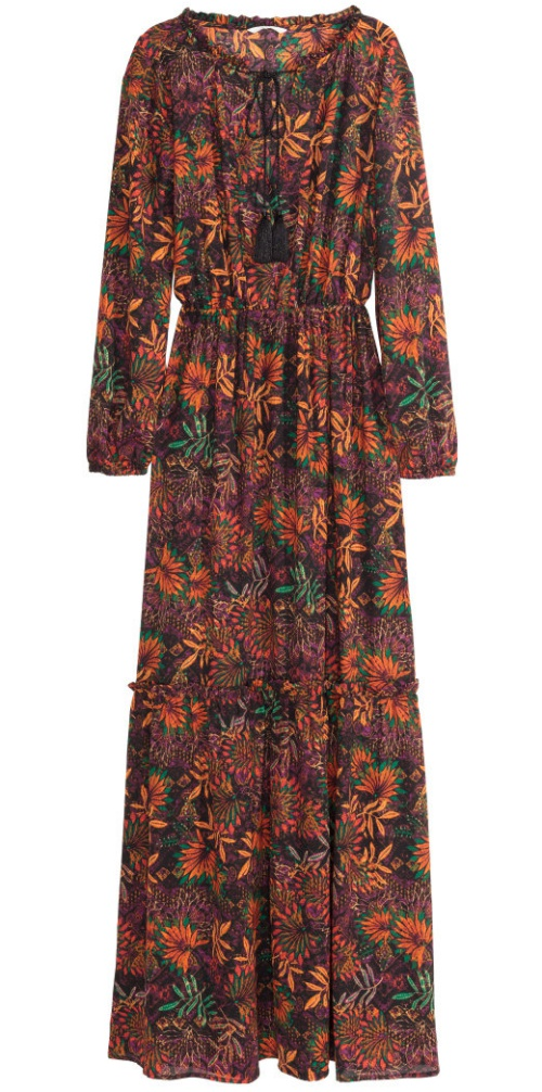 H&M Patterned Long Dress