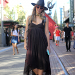Boots, dress, free people, glasses, Hat, Jeffrey Campbell, scarf, street style, The Grove, Vintage