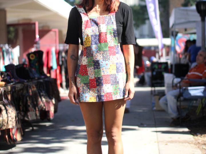 Flea Market, Melrose, overalls, shirt, Shoes, street style, Vintage