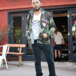 Boots, Customized, DIY, Jacket, Jeans, silverlake, street style, Vintage