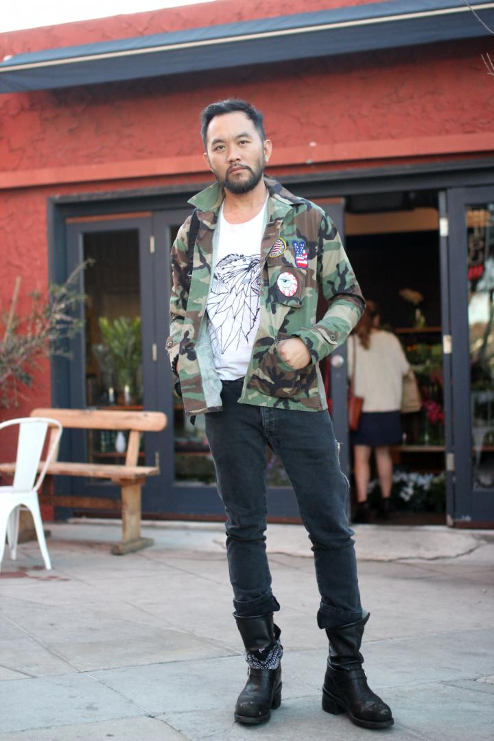 Boots, Customized, DIY, Jacket, Jeans, silverlake, street style, Vintage