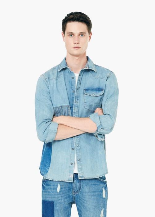Slim-Fit Medium Denim Shirt