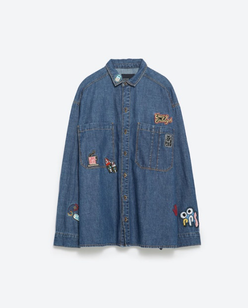 Oversized Patch Shirt