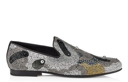Sloane Silver and Bronze Mini Studs Pattern Slippers
