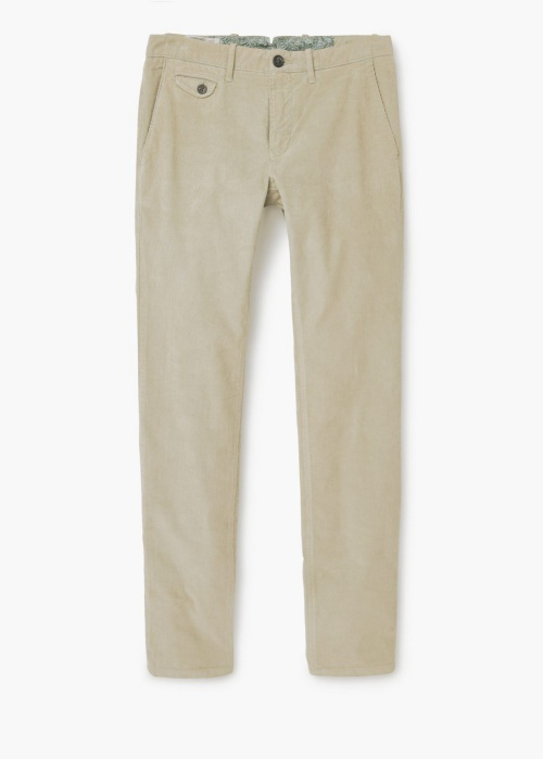 Slim-Fit Corduroy Chinos