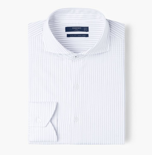Slim-Fit Tailored Striped Shirt