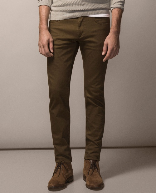 Casual Fit Five-Pocket Trousers