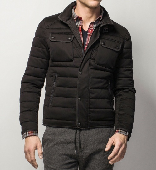 Quilted Jacket with Fabric Exterior