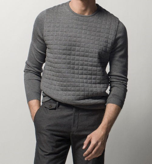 Sweater with Quilted Front