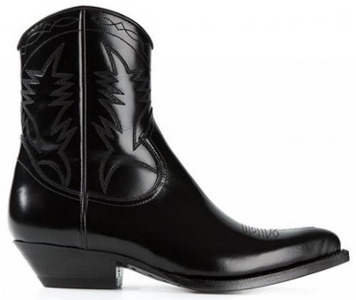 Saint Laurent Santiag Western Boots