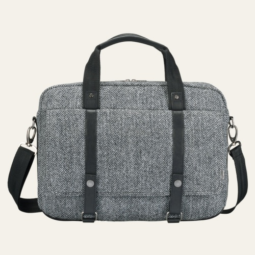 City Premium Harris Tweed Fabric Briefcase