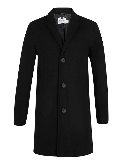 Black Wool Rich Coat