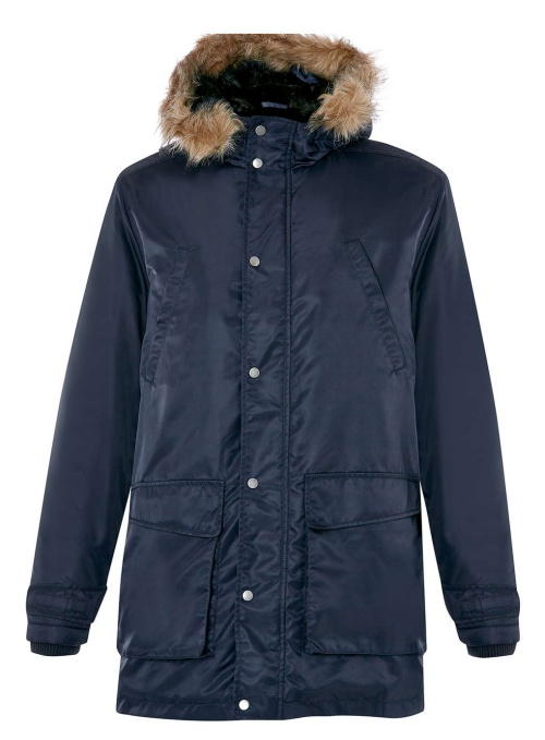 Navy Nylon Heavyweight Parka Jacket