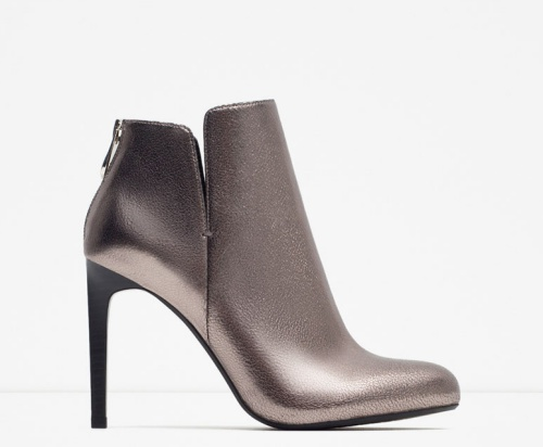 Shiny Heel Ankle Boots