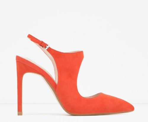 Suede Slingback High Heel Shoes