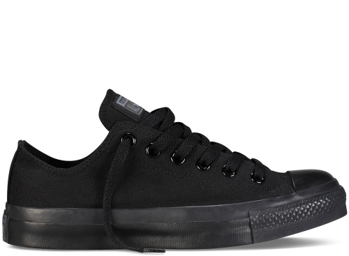 Converse Chuck Taylor All Star Classic Low-Top Canvas Sneakers in Black Monochrome