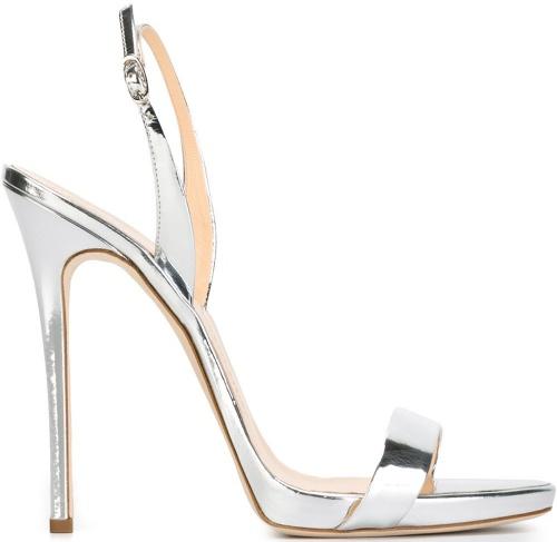 Giuseppe Zanotti Design Slingback Metallic Sandals
