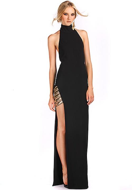 Haney The Angelique Halter-Neck Long Dress