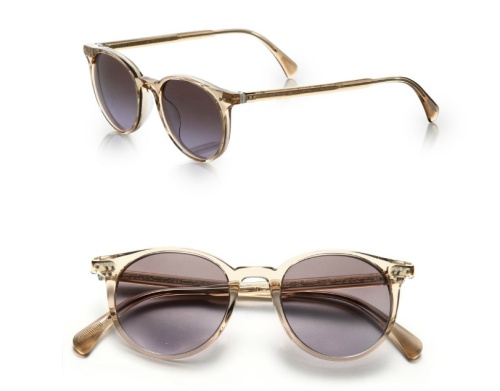 Oliver Peoples Delray Round Sunglasses