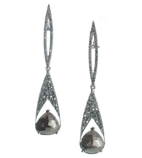 Vanessa Leu Wish Opaque Diamond Drop Earrings