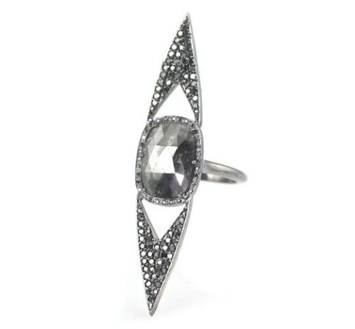 Vanessa Leu Wish Opaque Diamond Statement Ring