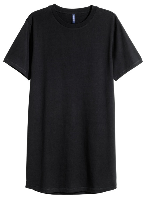 Long T-Shirt in Black