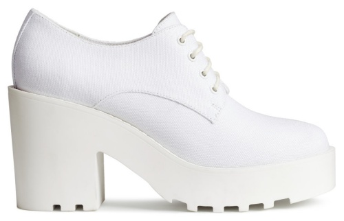 Platform Shoes in White