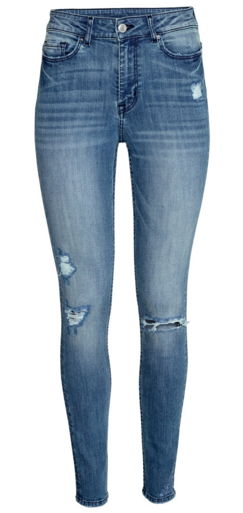 Skinny High Superstretch Jeans in Denim Blue