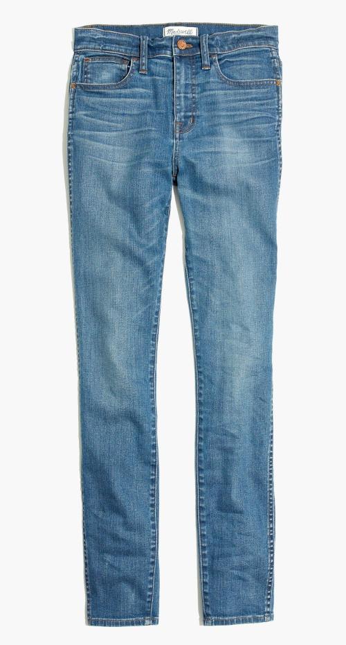 "10"" High Riser Skinny Skinny Jeans in Rosedale Wash"