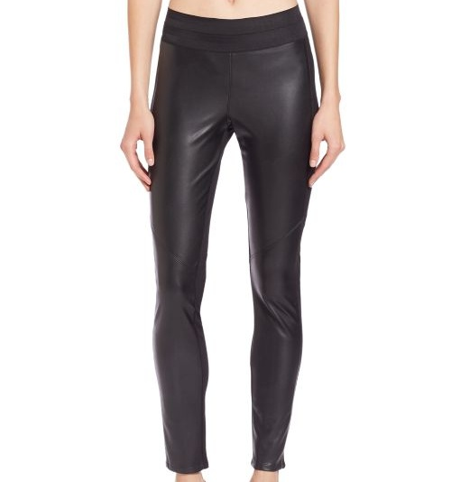 Paige Denim Paloma Faux Leather-Paneled Leggings