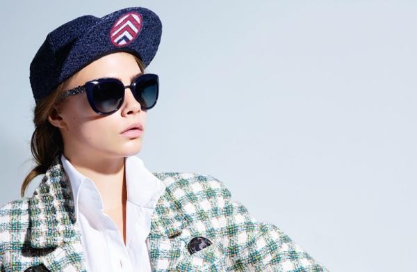 Cara Delevingne for Chanel's Spring 2016 Eyewear Campaign