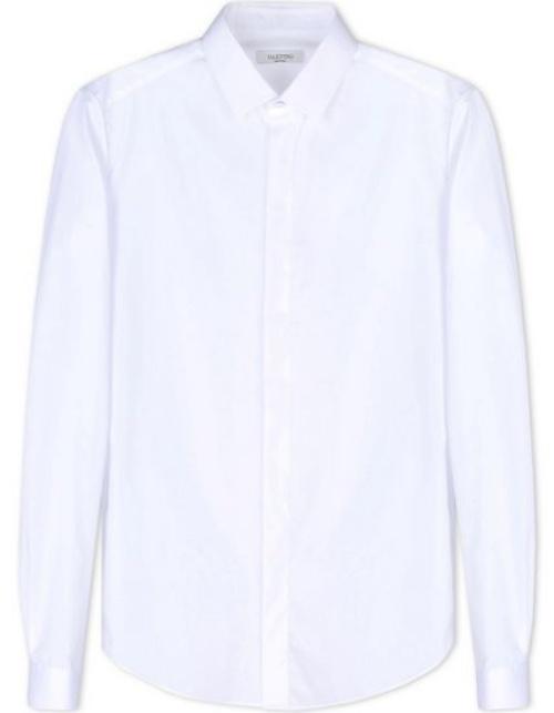 Valentino Long-Sleeved Shirt in White