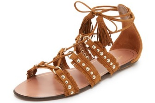 Aquazzura Tulum Sandals in Cognac