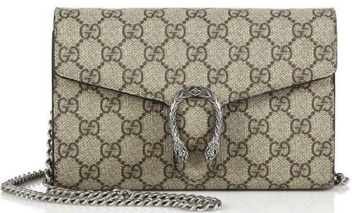 Gucci Dionysus Coated Canvas Chain-Strap Wallet