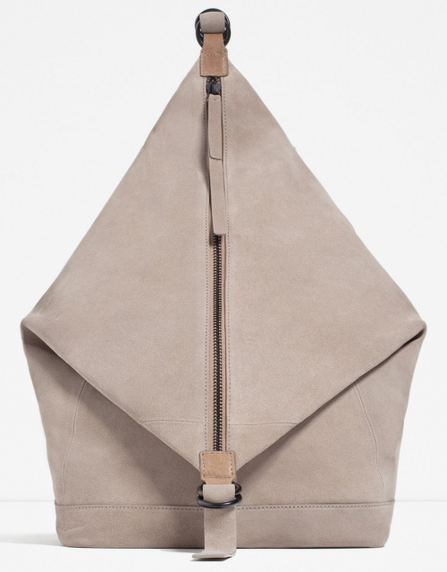 Asymmetric Leather Backpack
