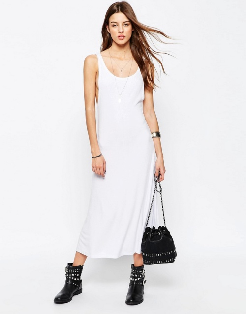 ASOS City Maxi Dress in Rib