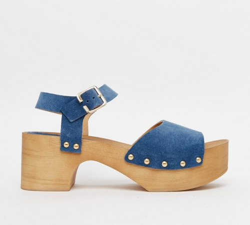 ASOS TICKLE Suede Clog Sandals
