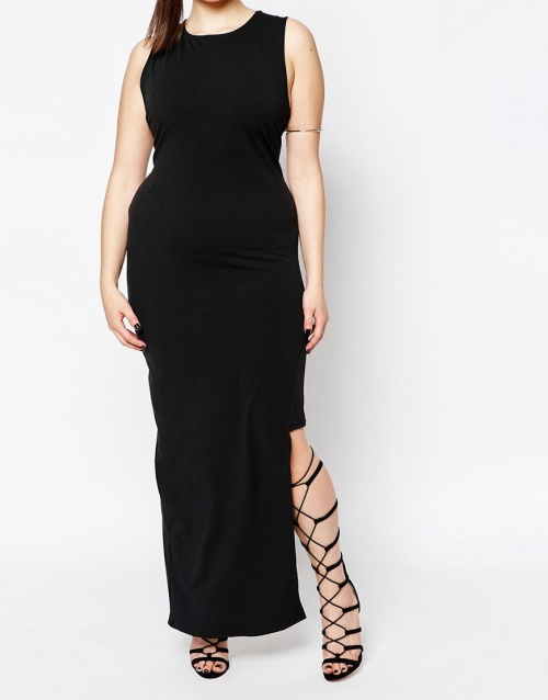 Missguided Plus Asymmetric Dress